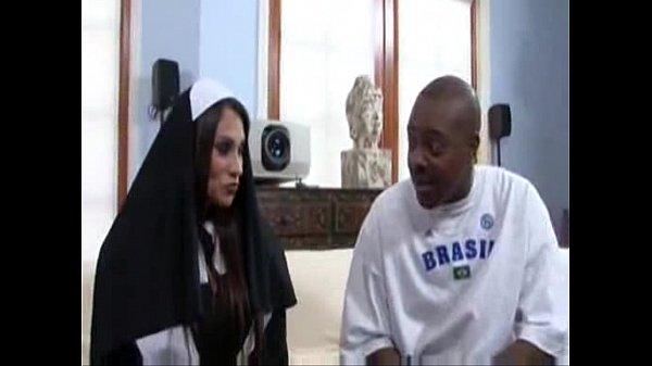 Sheila Marie BIg Tits Nun Fucks A Big Black Dick Thumb