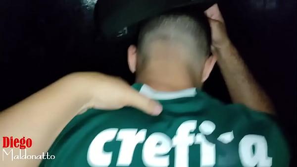 Palmeirense levando rola no cinema porno