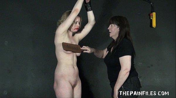 Ambers lezdom breast whipping and lesbian bondage