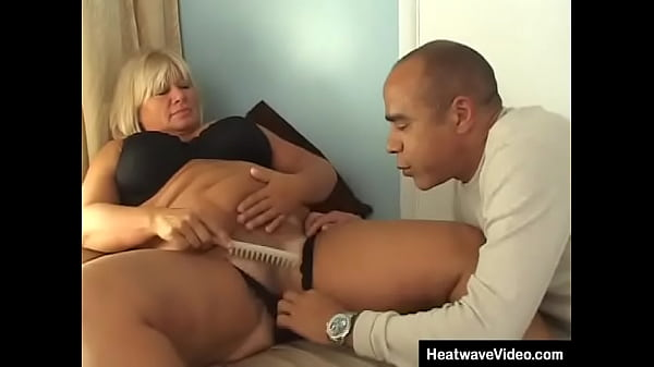 Enormous fat granny is surprised when a man begins to satisfy her by licking her hole before putting his huge cock in her mouth and pussy