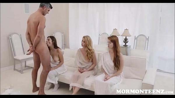 Three Mormon Teens Fucked By Church President