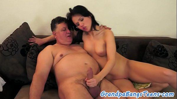 Bigtit beauty banged by grandpa
