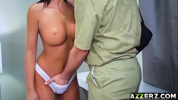 August Ames fucked with a horny technician