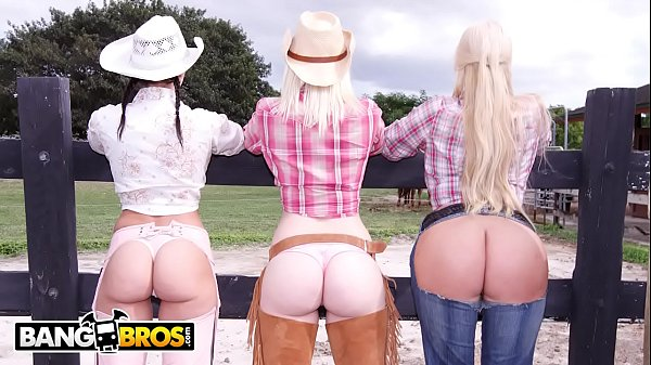 BANGBROS - On The Dude Ranch With Rachel Starr, Karen Fisher and Marissa Thumb