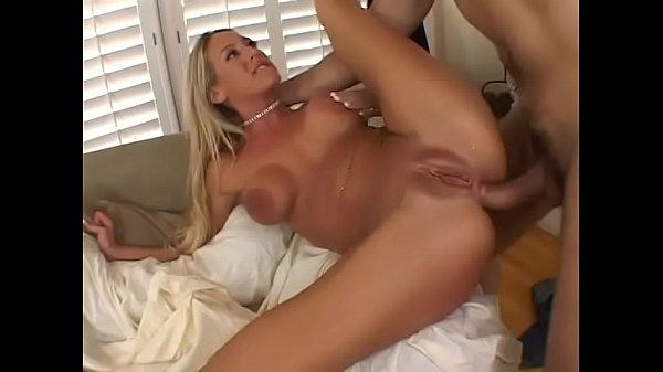 Insatiable blonde slut Lea More eats thick cock before getting it inside her ashole Thumb