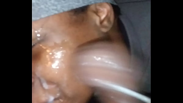 I slapped her with my dick then gave her a facial