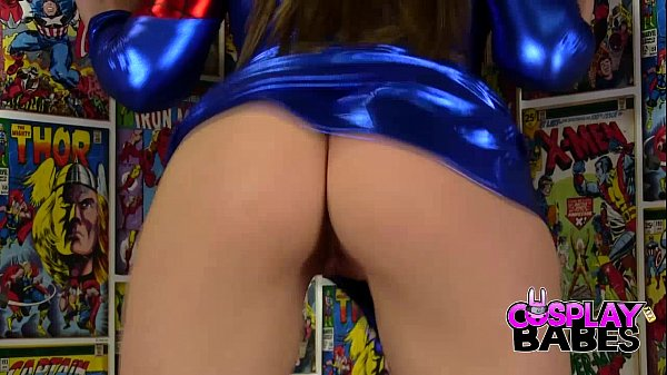 COSPLAY BABES Spider Woman Cums in Comic Store Thumb