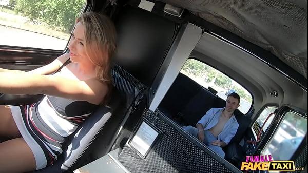 Female Fake Taxi Shalina Devine faces sitting o...