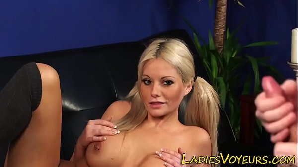 Busty domina watches cock