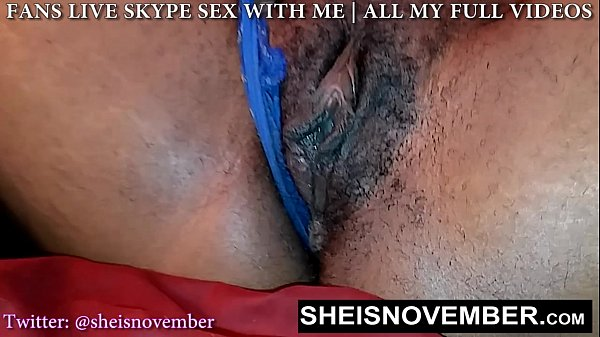 HD Msnovember Hairy Ebony Cunt Throbbing Cum Wh...