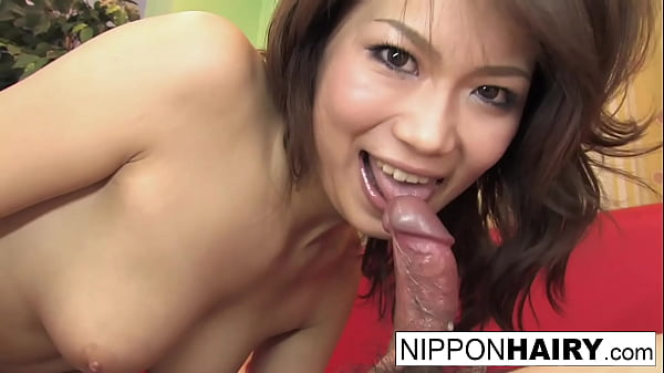 Hot Asian blows him and let's him shoot his load on her ass
