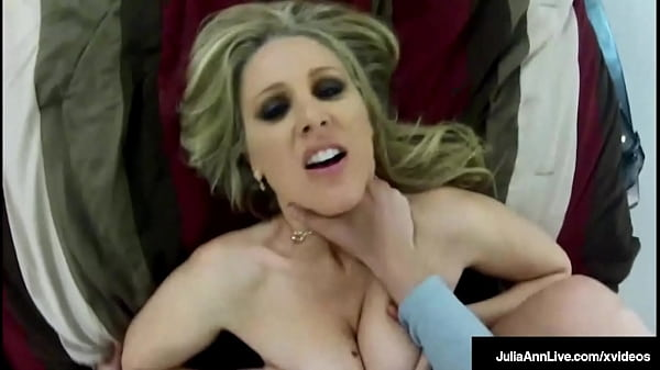 Busty Doggy Dicked Cougar Julia Ann Bends Over ...