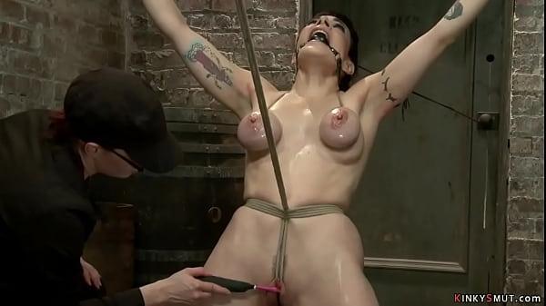 Gagged bound lesbian anal fucked