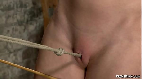 Petite slave walked on crotch rope Thumb