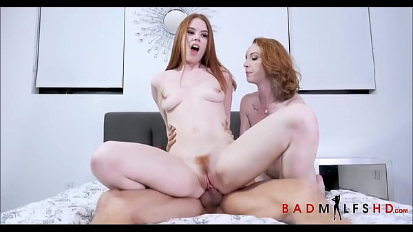 Hot Redhead Stepmom And Stepdaughter Fuck Garde...