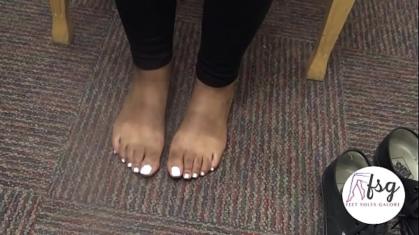Ebony Candid College Ethiopian Feet Soles and Toes