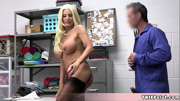 This busty and elegant blonde MILF caught shoplifting and gets rough fucked Thumb