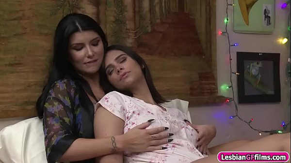 Horny stepmom licks her stepdaughter