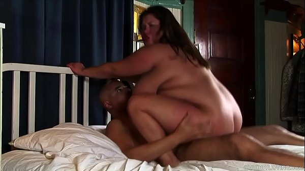 Super cute chubby brunette loves cum all over her face and nice big tits