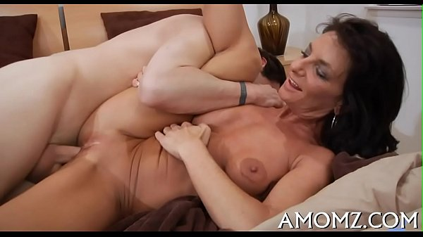Alluring older in a wild play