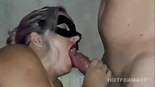 Hot neighbor giving blowjob