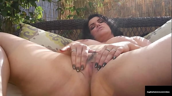 Chubby Cuban Babe Angelina Castro Rubs Herself While Sucking Cock!