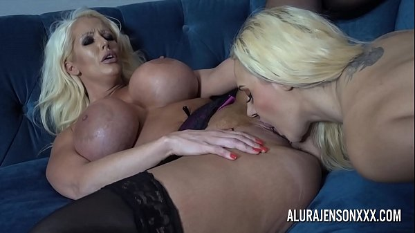 Alura and her busty lesbian friend Dolly get na...