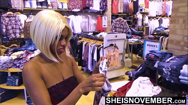My Boss Wanted To Eat My Ass After He Took Me Shopping, I Feed His Old Ass My Ebony Bootyhole, Filling Up My Ebony Ass With His Tongue, And Flashing My Booty At The Mall Msnovember Reality on Sheisnovember