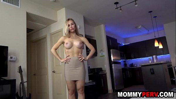 Nympho stepmom sucking son's dick because dad is away - fucked up family sex