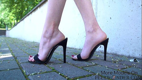 Black Sexy High Heels Teasing Video