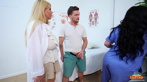 Medical Mamacitas Angelina Castro And Karen Fisher Cure Craving Cock
