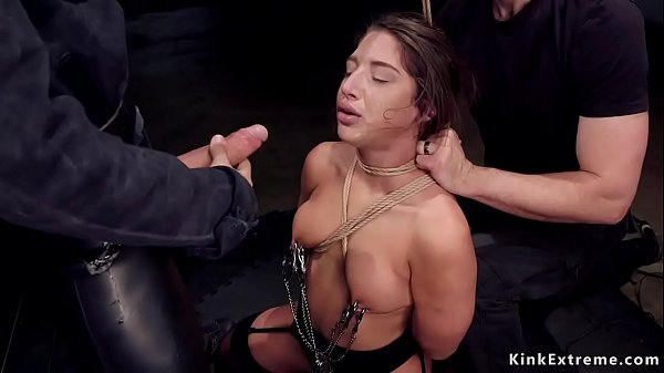 Teen trainee is anal fucked in threesome