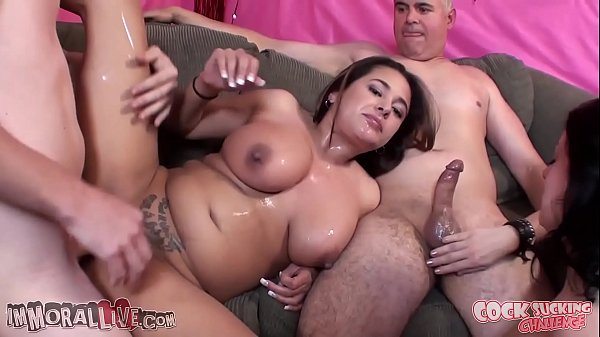 GREAT AMERICAN SLUT OFF - THICK & JUICY Angelica Raven vs CURVY LATINA Penelope Piper - Part 1