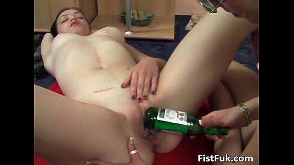 Blonde slut with glasses having fun