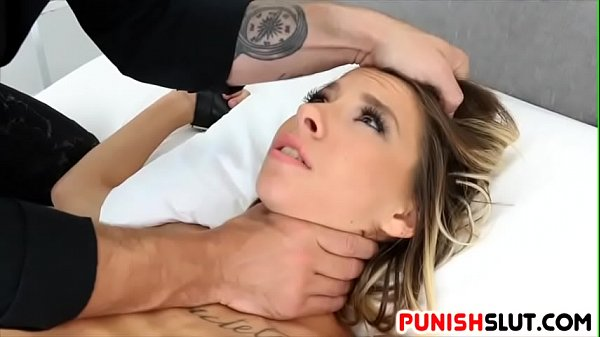 Tied up with no safeword for bad slut Kenzie Re...