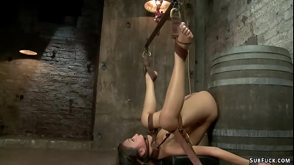 Bound Asian anal toyed and fingered Thumb