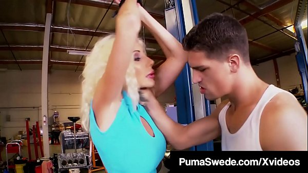 Hard Cock Mechanic Bangs & Slams Busty Blonde Puma Swede!