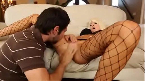 Sexy Blonde Babe Rikki Sharing Her Tight Pussy