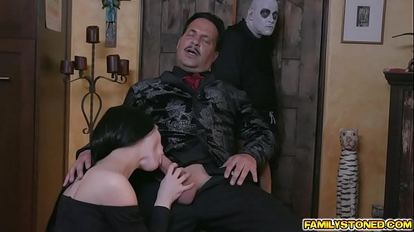 Busty Milf takes in a long massive cock sucking it deep down her throat before getting her pussy eaten Thumb