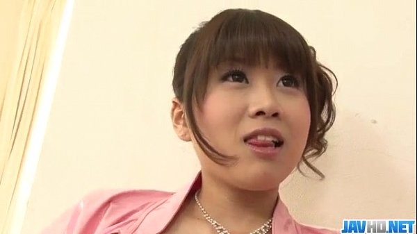 Ririka Suzuki needy milf kneels in front of a big cock