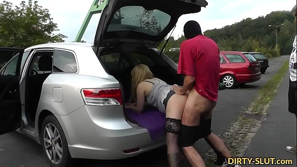 Blonde wife gets gangbanged while cuckold husband films