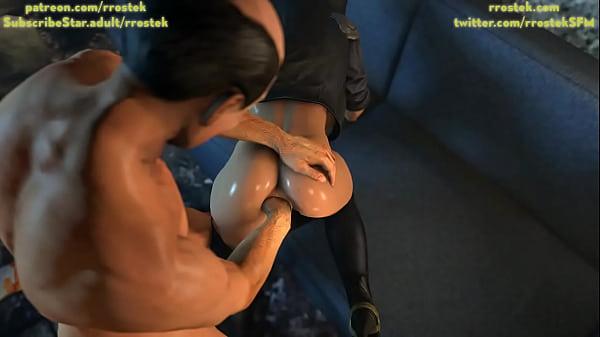 Wonder Woman massive anal fisting 3D