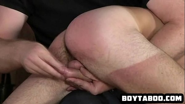 Horny young hunk getting sucked on and spanked hard