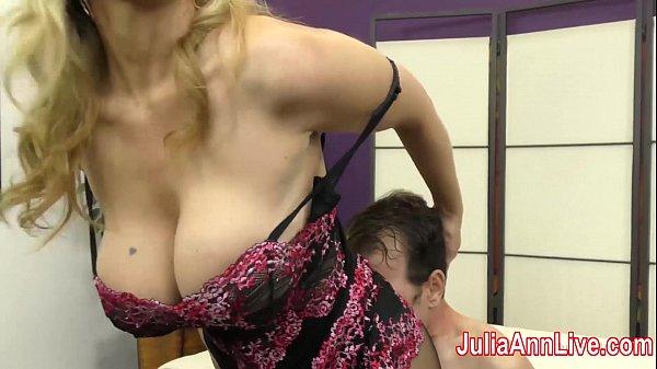 Milf Julia Ann Teases Slave with her Feet! Thumb