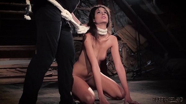 Fitness chick bondage in sex dungeon endures ki...