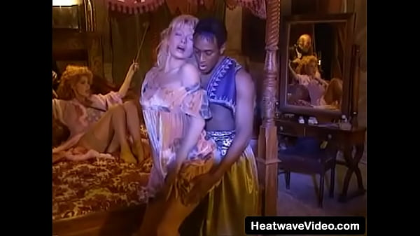 Tied MILF with big boobs and her friend take on black man