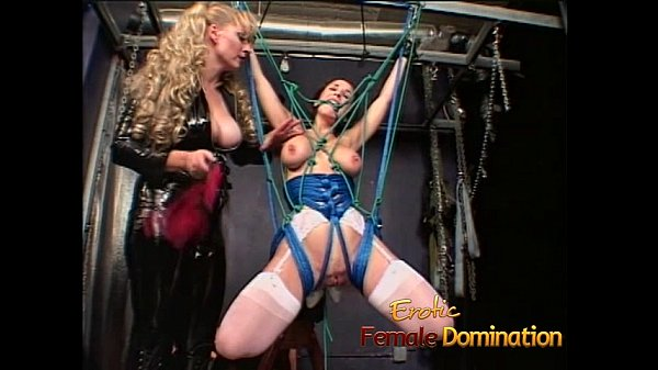 Delicious brunette bombshell simply loves being tied-up and spanked hard