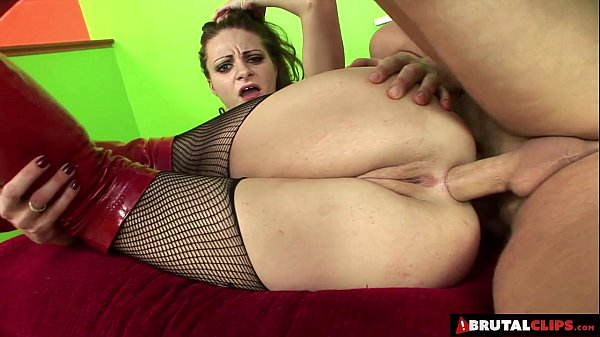 BrutalClips - Horny Slut Gets All Her Holes Dri...