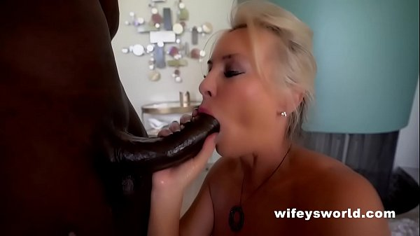 Wife Gives Massive BBC Blowjob And Swallows Cum...
