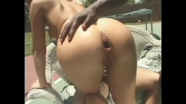 Two naughty sluts love to be double penetrated by ebony and white dicks during break between tennis sets Thumb